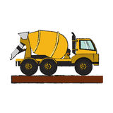 Construction trucks design Royalty Free Stock Image