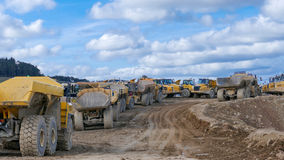 Construction Trucks Stock Photo