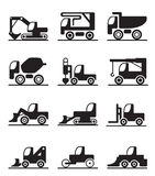 Construction trucks and vehicles Royalty Free Stock Photos