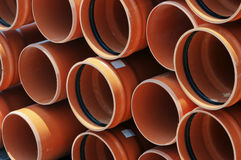 Construction tubes Stock Image