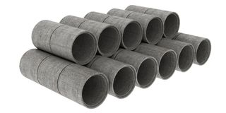 Construction tubes Stock Photography