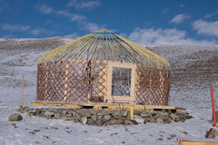 Construction Turkic yurts Royalty Free Stock Images