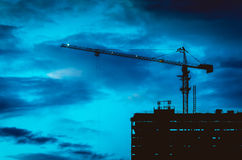Construction  in twilight Stock Photography