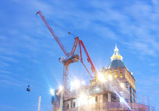 Construction and twilight light Royalty Free Stock Image