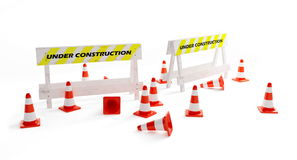 Construction under. Under construction on a white background Royalty Free Stock Photos