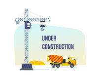 Construction under development, building house, the construction facilities and technique. Royalty Free Stock Photography