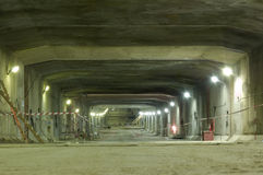 Construction of underground tunnel. This tunnel - part of Complex of Protective Constructions from Flooding in the Finnish gulf of Baltic sea Stock Photo