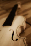Construction of unfinished violins Stock Images