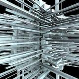 Construction urbaine abstraite de ville dans le chaos 02 Images libres de droits