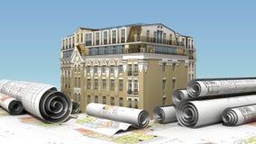 Construction urbaine d'élite illustration libre de droits
