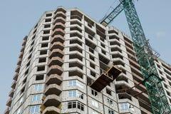 construction urbaine d'un immeuble images stock