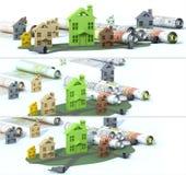 Construction urbaine de bannière Image stock