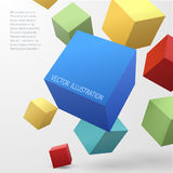 Construction vector concept with 3d cubes Stock Photography