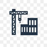 Construction vector icon isolated on transparent background, Con royalty free illustration