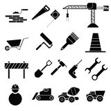 Construction vector icons. Image of construction vector icons isolated on white vector illustration
