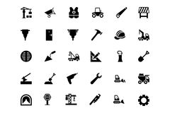 Construction Vector Icons 2 Royalty Free Stock Photo