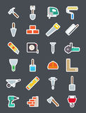 Construction  vector icons set. Set of 24 Construction  vector icons Stock Images