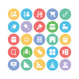 Construction Vector Icons 12. This Construction Vector Icons set is filled with Industrial processes, construction tools and equipment, aimed for use in your royalty free illustration