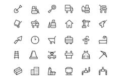 Construction Vector Line  Icons  2 Stock Image