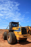 Construction vehicle. A heavy duty construction vehicle royalty free stock image