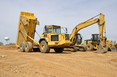 Construction vehicles Stock Photos