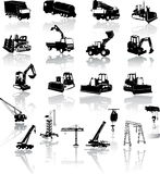 Construction vehicles -  collection Stock Photos