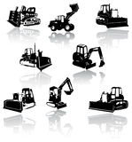 Construction vehicles -  collection Royalty Free Stock Photo