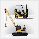 Construction Vehicles. Industries Vector Illustration Royalty Free Stock Image