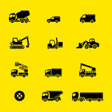 Construction vehicles icons Royalty Free Stock Photo