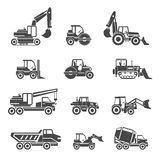 Construction vehicles icons Stock Photo