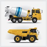 Construction Vehicles Industries. Vector Illustration Royalty Free Stock Images