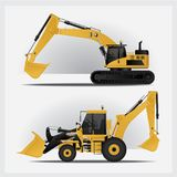 Construction Vehicles Industries. Vector Illustration Stock Photos