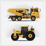 Construction Vehicles Industries Vector Illustration. Construction Vehicles Transportation Industries Vector Illustration Stock Image