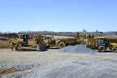Construction vehicles stock image