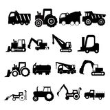 Construction vehicles royalty free illustration