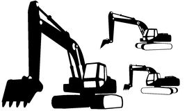 Construction vehicles (vector) Royalty Free Stock Image