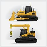 Construction Vehicles Vector Illustration. Construction Vehicles Industries Vector Illustration Royalty Free Stock Photography