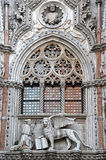 Construction, venice, details (entrance door of the Venice Museum) Stock Image
