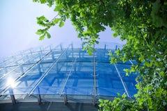 Construction verte de local commercial Photo stock