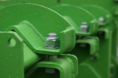 Construction verte en métal Photo stock