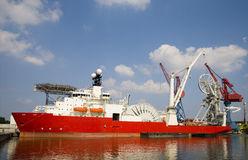 Construction vessel 1. Flexible pipelay and construction vessel for deepwater operations Royalty Free Stock Photography