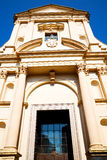 construction vieille dans la lumière du soleil de l'Italie l'Europe Milan Photo libre de droits