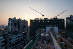 Construction view from urban Stock Photo