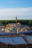 Construction of Vitebsk hydroelectric power station. Royalty Free Stock Images