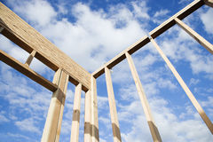 Construction Wall Framing Royalty Free Stock Images