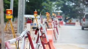 Construction warning light stock footage