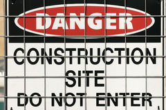 Construction warning sign Royalty Free Stock Photo