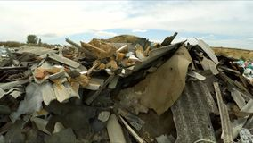 Construction Wastes Dumped In A Huge Pile In stock video