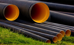 Construction Water Pipes Stock Photo