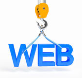 Construction web site on white background Royalty Free Stock Photo
